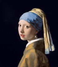 """imatge del quadre """"La noia de la perla"""" de Vermeer de Delft"""