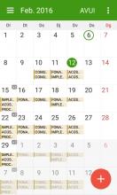 Imatge d'un calendari de mòbil amb horaris de classe